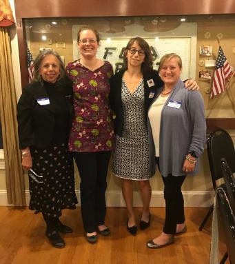 LWV of Northampton Annual Meeting, June 2017 with Jean Cherdack, Leslie Sears, Marie Gauthier, & Nicole Moore